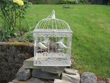 Large Shabby  Chic Cream Distressed Birdcage Home Decor Wedding