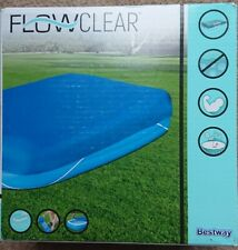 Bestway BW58108 Family Pool Cover Rectangular 10ft foot 129 x 82 Inches - 305cm