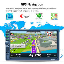 7'' 2DIN Bluetooth GPS Navigation Navi Autoradio Stéréo Car MP5 Player RDS Radio