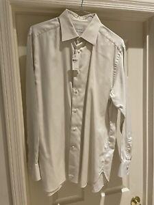New Ermenegildo Zegna Off-white Eggshell Dress Shirt 17.5 44 BNWT