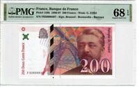 France 200 Francs 1996 Pick# 159b PMG Superb UNC 68 EPQ - Eiffel