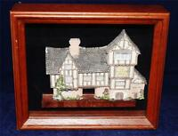 David Winter Cottages THE PLUCKED DUCKS in Shadow Box, 1989