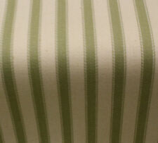Acomb Ticking Stripe Curtain Fabric - Ocean Green - per metre