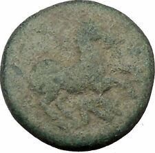 Maroneia in Thrace 400BC Original Ancient Greek Coin Horse Vine Grapes  i37011