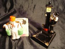 Vintage - Lot Of 2...Dutch Boy & Top Hat, Lamp Post..Ceramic...Ashtrays....Japan