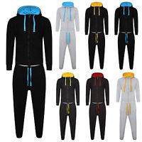 New Mens Bottoms / Tracksuit Set Fleece Hoodie Top Bottoms Jogging Joggers Gym