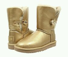 NEW 7 UGG Australia Women's Bailey Button Mirage Boots Gold Metallic 1010266 NIB