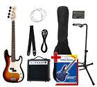 Guitare Basse Electrique Set Ampli Support Accordeur Housse Sangle Cable Corde