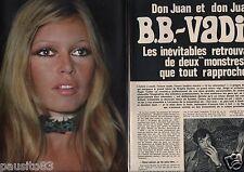 Coupure de presse Clipping 1972 Brigitte Bardot  (4 pages)