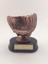 BASEBALL GLOVE RESIN!  FREE ENGRAVING!  SHIPS IN 1 BUSINESS DAY!!