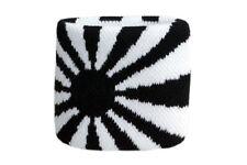 Schweißband Fahne Flagge Schwarz-Weiß 2er Set - 7x8cm Armband für Sport