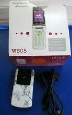 Sony Ericsson Walkman Poetic White Flip Phone W508- 1GB Works Needs Batt.