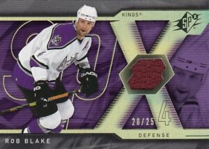 ROB BLAKE NO:10 GAME-USED JERSEY ( 20/25 ) in SPx 2007-08    near mint