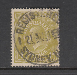 KGV 4d Olive/Yellow Single Watermark Fine used..