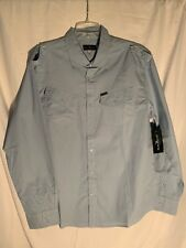 Marc Ecko Cut & Sew Mens XL Long Sleeve Button Up Shirt Light Blue