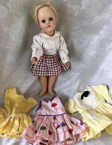 """Vintage Ideal P-90 Toni Doll~Platinum Blonde Hair~Sleepy Eyes~14""""~Hard Plastic"""