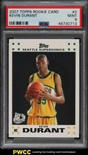 2007 Topps Rookie Card Kevin Durant ROOKIE RC #2 PSA 9 MINT