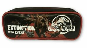 Pencil Case - Jurassic Park - Black - w Zipper