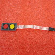 12V 1x2 2 Key Matrix Membrane Switch Keypad Keyboard 40x20x0.8mm