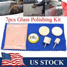 7pcs Car Glass Polishing Scratch Removal Kit 2.47Oz Cerium Oxide + Felt + 2