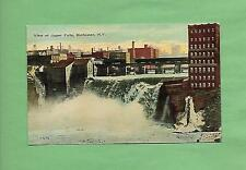 View of UPPER FALLS In ROCHESTER, NY On Vintage Unused Postcard
