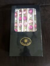 Rare Perfect Old Christopher Radko Garland In Box Hearts And Flowers