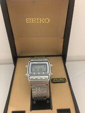 Seiko A547-5020 Silver WaveChrono Alarm  Quartz  Digital LCD  Collectible Watch