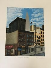 Katherine E. Gallagher, Chrysler Building Aquatint Etching SIGNED  K.E.GALLAGHER