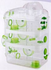 4 Level Sparkle Hamster Mice Mouse Cage with Large Top Exercise Ball Green 146