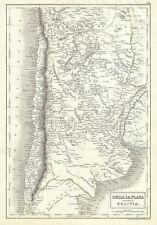 1844 Black Map of Chile, La Plata (Argentine Republic) and Bolivia