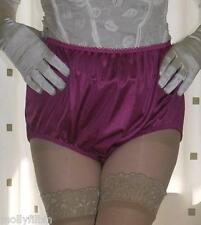 3 pairs of vintage style pink silky nylon full briefs knickers panties large