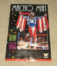 """Shawn Michaels & Randy Savage Doublesided Poster Wwf Wwe 32.375"""" x 21.5"""""""