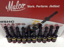 Malco MSHC 1/4 and 5/16 Reversible Hex Chuck Driver & Bit Set