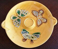Vintage Mid Century California Pottery 1051 Large Yellow Butterfly Platter Calif