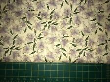 David Textiles Lavender Day Lillys Quilt Fabric - 4 3/4 Yds