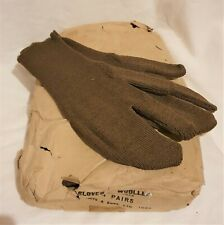 Original WW2 British Army Trigger Mittens Gloves Woolen 3 Compartments 1943