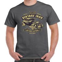Men's Hotrod 58 T Shirt Vintage Iron Rat Rod Garage Classic Rockabilly car 62