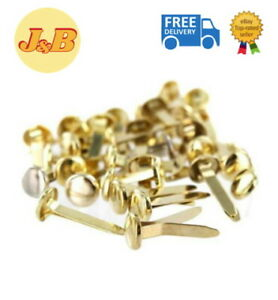 SPLIT PINS Paper Fasteners BUTTERFLY CLIPS 19mm IDEAL FOR ARTS & CRAFTS GOLD