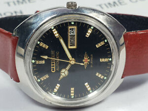 Vintage Citizen Mechanical Automatic Day Date Mens Wrist Watch WU225 F