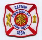 Ashland Fire Department Captain Patch Kentucky KY