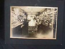 Stationery store interior B & W photo 1920s Waterman pen display Dixon pencils