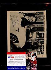 Sandy Koufax Autographed In Corvette 6 1/2 X 7 1/2 Magazine Page PSA/DNA Cert