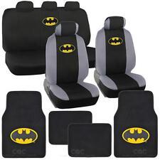 Batman Seat Covers & Floor Mats - Super Hero Car Front Rear Bench Carpet Pads