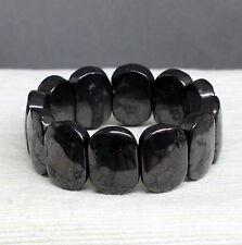 Oval Beads Shungite Schungite Stretch Bracelet Anti Radiation Karelia Russia
