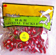 100 DOUBLE EYE 1/2 OZ RED SALTWATER JIG HEADS