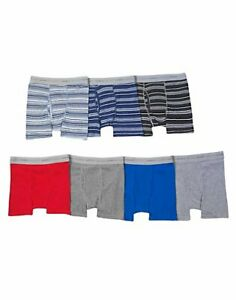 Hanes Boys' 7-Pack Boxer Briefs ComfortSoft Dyed Comfort Flex Waistband Tag-free