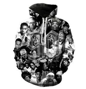 90s rapper 2pac Tupac 3d Print Men/Womens Hoodie Sweatshirt Pullover Tops Jumper