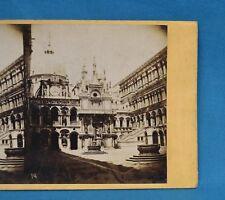 1860/70s Stereoview Photo Italy Palazzo Ducale Doge's Palace Venice Carlo Naya