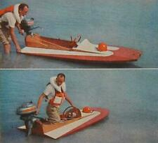8' Hydroplane 3 point hull How-To build PLANS 50mph 10hp