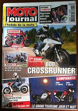 MOTO JOURNAL du 3/2011; Honda 800 Crossrunner/ Roadster Cup/ KTM 125 Duke